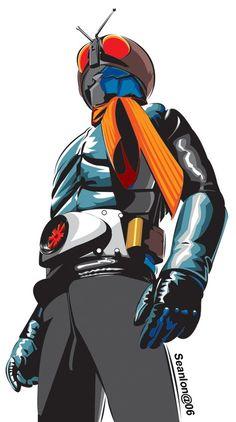 kamen rider by seanlon Robot Cartoon, Cartoon Art, Comic Character, Character Design, Gundam, Japanese Superheroes, Cool Robots, Kamen Rider Series, Super Robot