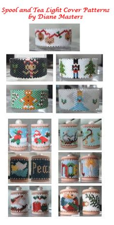 Beaded Spool Ornament and Tea Light Cover Patterns by Dianne Master at Sova-Enterprises.com. Lots of free beading patterns and tutorials are available!