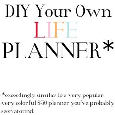 DIY Planner | Jaclyn Day much better than Erin Condren and CHEAPER too!