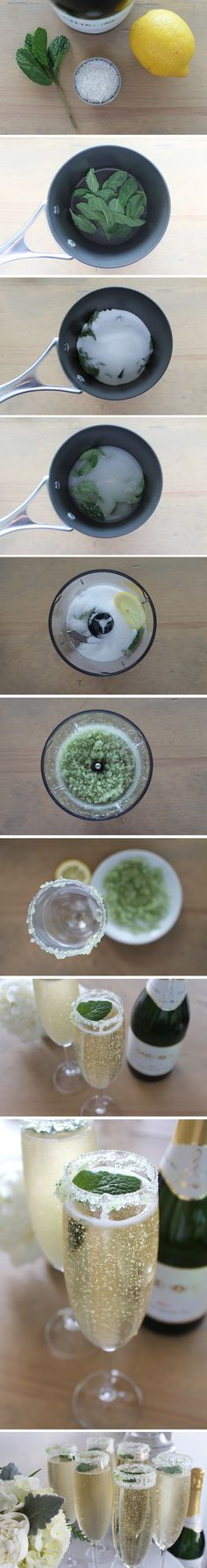 Wintergreen Sparkling Wine Cocktail!  Recipe on blog.onehopewine.com!#NewYears #NewYearsEve #recipe #Holiday #Dinner