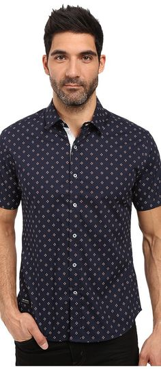 7 Diamonds Diamonds Dancing Short Sleeve Shirt (Navy) Men's Short Sleeve Button Up - 7 Diamonds, Diamonds Dancing Short Sleeve Shirt, SMK-5653-410, Apparel Top Short Sleeve Button Up, Short Sleeve Button Up, Top, Apparel, Clothes Clothing, Gift, - Fashion Ideas To Inspire