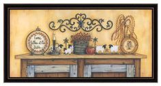"""The Craft Room Mary 311 Come Gather At Our Table, Thirty Four by Sixteen Inch Rustic Shaker Framed Print by Mary June by The Craft Room. $51.35. From the Manufacturer                """"Come Gather at Our Table"""" is a Country inspirational framed artwork with an attractive black hardwood Shaker frame. This artwork features the phrase """"Come Gather at Our Table"""" with a rustic feel by Mary June.  No glass is needed to protect this artwork which features an attractive te..."""