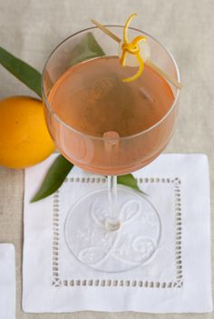The Bijouxs cocktail is a mix of vodka, blood orange bitters, Cointreau, a whisper of dry vermouth & a tiny drop of Grenadine, just for color.