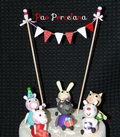 Peppa Pig y sus amigos, adorno de torta!Mini mini!!