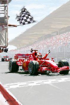 Cadre avec image de auto de course