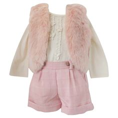 91964b524df ADRIAN EASTAndrea s Beau · Mayoral Cream   Pink Plaid Short Set for Baby  Girls Kids Clothing Brands