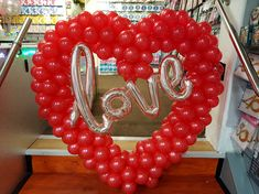 Balloon heart wedding or valentine decor