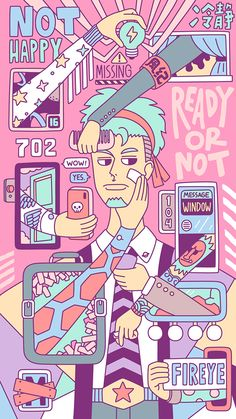 Not happy on BehanceYou can find illustration design and more on our website.Not happy on Behance Art And Illustration, Illustration Design Graphique, Illustrations And Posters, Design Illustrations, Graphic Design Posters, Graphic Design Inspiration, Capa Do Face, Ligne Claire, Art Watercolor