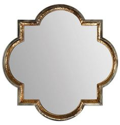 Uttermost 12862 Lourosa Mirror In Antiqued Gold / Silver