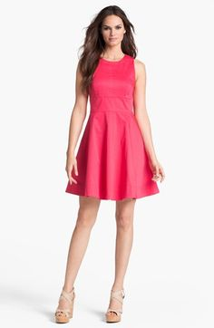 French Connection Seamed Fit & Flare Dress available at #Nordstrom
