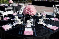 Real Party: A Coco Chanel Pink and Black Baby Shower | Baby Lifestyles