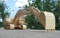 camions en allumettes par djordje balac 4   Des camions en allumettes par Djordje Balac   véhicule industriel Sculpture photo image Djordje Balac camion allumette