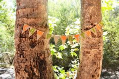 Camping themed party banner.