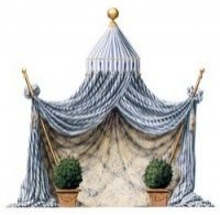 Tent at the Galerie de Bayser, notecards Archetypes, Classic Beauty, Interior Design Inspiration, Chinoiserie, Things To Buy, Stationary, Tent, Scrap, Blue And White