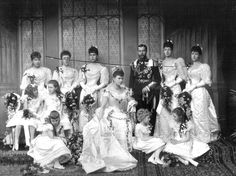 King George V and Queen Mary on their wedding day