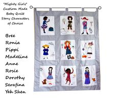 Mighty Girls  Custom Made Baby Quilt/ Wall Hanging/ Strong Female Storybook Characters/ Personalized Keepsake Heirloom by Meoneil on Etsy