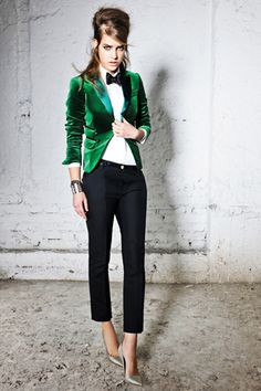 I don't know if I can add ALL of the photos from the Dsquared Pre-Fall 2012 collection (and I do love ALL of them) but I ESPECIALLY love the androgynous look here.    photo via style.com