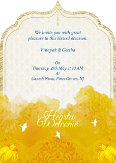 Cuckoos In The Garden Invitation - Invites Indian Wedding Invitation Cards, Wedding Invitation Video, Wedding Invitation Card Design, Indian Wedding Invitations, Save The Date Invitations, Custom Invitations, Invites, Wedding Cards, Wedding Card Design Indian