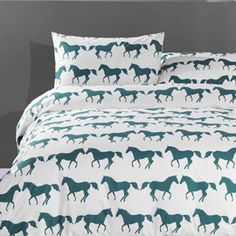 Heal's | Anorak Kissing Horses Bedlinen Set - Duvet Covers - Bedding - Bedroom
