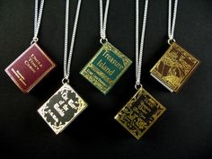 Take your favourite book wherever you go with these adorable necklaces.