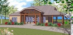 House Plan 59394 | Coastal Southern Plan with 1385 Sq. Ft., 2 Bedrooms, 2 Bathrooms