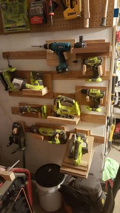 #FrenchCleats #powertoolstorage. takes up too much space. going to change to a cubby system. #WoodworkingTools #WoodworkingBench