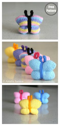 Butterfly Free Knitting Pattern Quick and Very Easy Butterfly Free Knitting Pattern startknittingfreepattern easyknittingpatterns freeknittingpattern Best Picture For free knitting patterns for babies For Your Taste You are looking Knitting Toys Easy, Free Knitting Patterns For Women, Small Knitting Projects, Simply Knitting, How To Start Knitting, Knitting For Kids, Knitting For Beginners, Crochet Patterns, Rosa Rose