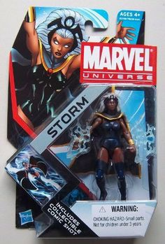 Marvel Universe 3 3/4 Inch Series 17 Action Figure Storm by Hasbro. $9.90. The heroes and the villains of the Marvel Universe make the leap from the comic books to your action figure collection with these allnew Marvel Universe Action Figures! Each figure stands 3 3/4 tall and comes with accessories to save the day  or conquer the world!