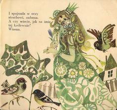 'Bajka o śnieżnym królu'- The Tale of the Snow King by Tadeusz Kubiak Illustrated by Zbigniew Rychlicki Nasza Księgarnia, Warszawa, Poland, 1968