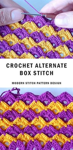 Modern Crochet Stitch Patterns For Beginners Easy Crochet Stitches, Afghan Crochet Patterns, Knitting Stitches, Knitting Patterns Free, Stitch Patterns, Crochet Tote, Free Crochet, Knit Crochet, Crochet For Beginners Blanket