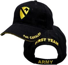 ef0837982e247 US ARMY 1ST CAVALRY - U.S. Army with 1st Cavalry Logo Military Baseball Cap  Hat