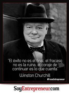 Te compartimos una inspiradora frase de Winston Churchill, reconocido político y estadista británico en tiempos de la Segunda Guerra Mundial.
