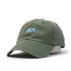 Plain Washed Cotton Twill Baseball Cap with Adjustable Velcro