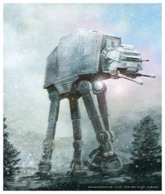AT-AT (Star Wars fan art )by *prokhoda