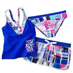 b4fdf80496 ZeroXposur at Kohl's - Shop our full selection of girls' swimwear,  including this ZeroXposur Checked Tankini Swimsuit Set, at Kohl's.