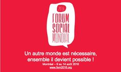 Forum Social Mondial - Montréal - Franck NA - 2016