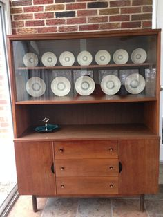 Cool Mid Century Stanley Hutch Credenza Buffet China Cabinet Cupboard