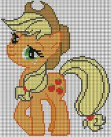 Applejack Pattern by ~Jackiekie Crossstitch and Embroidery Pattern My Little Pony Crafts Tutorial  My Little Pony Patterns for Fan Art Diy Projects, My Little Pony Sewing Template for  Unicorn , pony, ponies, pattern, template, sewing, diy , crafts, kawaii, MIP