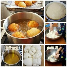 """Vetkoek is a traditional South African food, similar to a doughnut without the hole. Literally meaning """"fat cake"""" or """"oil cake"""" vetkoek is easy to make and is a popular treat at markets and South African Dishes, South African Recipes, Ethnic Recipes, Fat Cakes Recipe, Easy Cooking, Cooking Recipes, Kos, What Is For Dinner, Sweet Dough"""