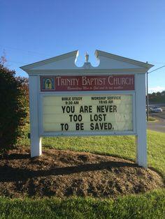 Trinity Baptist Church Christiansburg, Va Sign/marquee                                                                                                                                                      More