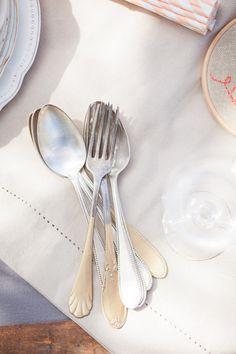 dipped vintage silverware