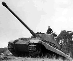 """PzKpfw. VI """"Tiger II"""" *Königstiger*  -scary to see this coming down the road."""