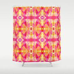 Tie Dyed Lips Kaleidoscope Shower Curtain by Celeste Sheffey of Khoncepts - $68.00  #homedecor #bathroom