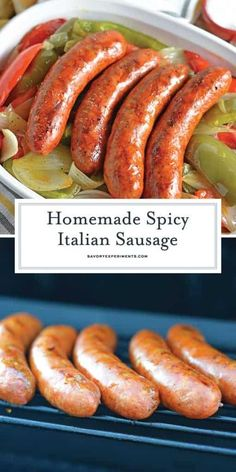 Learn how to make Homemade Italian Sausage, a fun and fulfilling process. Adjust… Learn how to make Homemade Italian Sausage, a fun and fulfilling process. Adjust the heat and the ingredients for a custom blend every time! Homemade Italian Sausage, Homemade Sausage Recipes, Smoked Sausage Recipes, Bratwurst Recipes, Pork Recipes, Cooking Recipes, Italian Sausage Ingredients, Homemade Summer Sausage, Home Made Sausage
