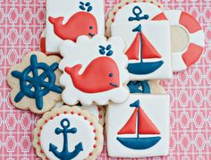 1 Dozen /Nautical Themed Sugar Cookies 12 by SugarbeeGoodies on Etsy, $28.00