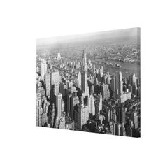 Vintage Midtown Manhattan Photograph Canvas Print