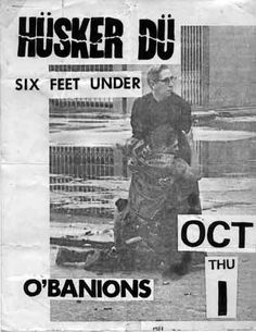 Punk collage posters have their own unique aesthetic that I like - husker du