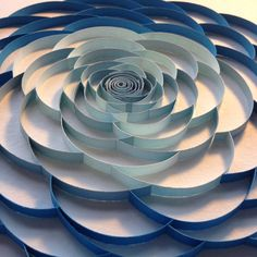 3D Paper Quilling Blue Flower on Etsy, $50.00