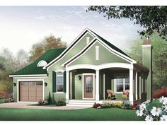 Country House Plan with 1452 Square Feet and 2 Bedrooms from Dream Home Source | House Plan Code DHSW66484
