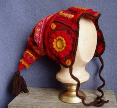 freeform crochet hat~ beautiful